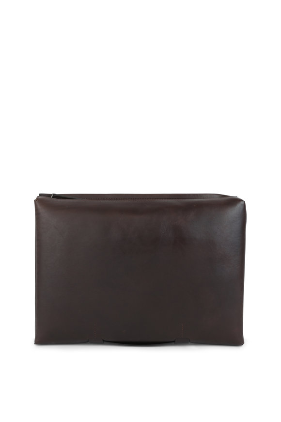 Troubadour Brown Leather Portfolio