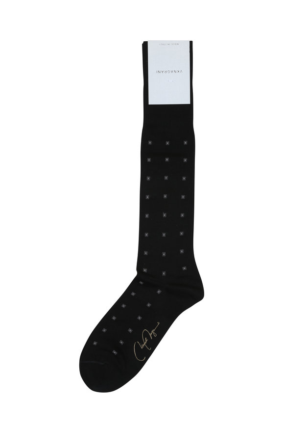 VKNagrani Black Mini Circle Socks