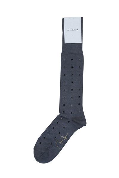 VKNagrani - Gray Mini Square Socks