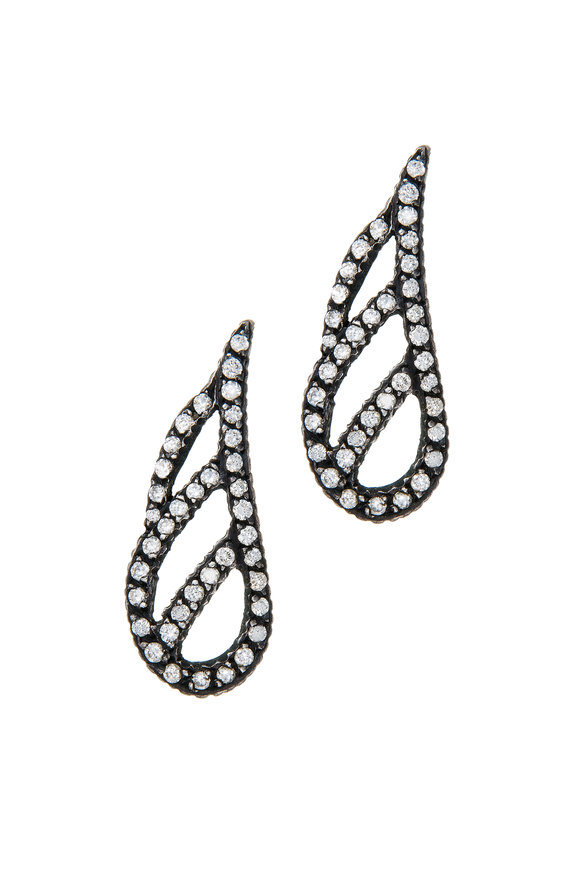 Yossi Harari Lilah Pavè Wing Earrings