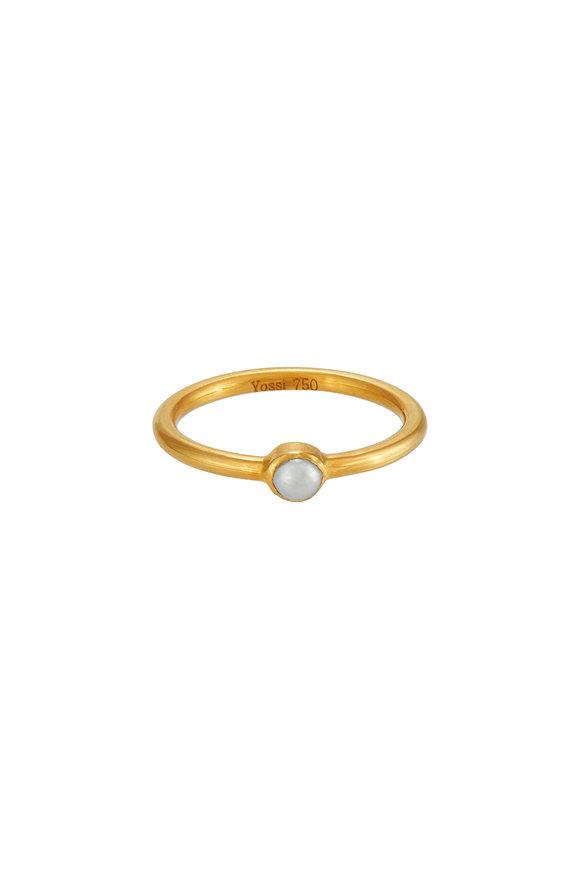 Yossi Harari 18K Yellow Gold Pearl Stack Ring