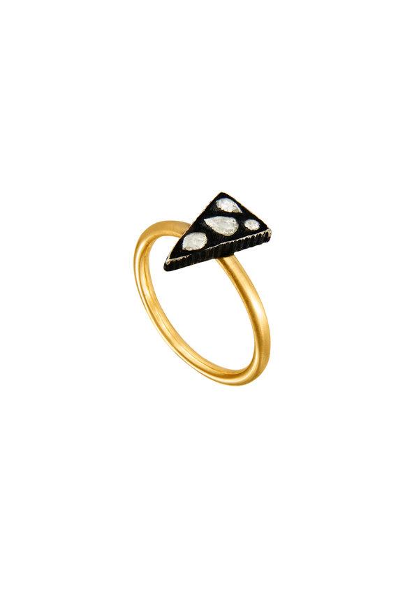 Yossi Harari 18K Gold & Silver Sara Triangle Ring