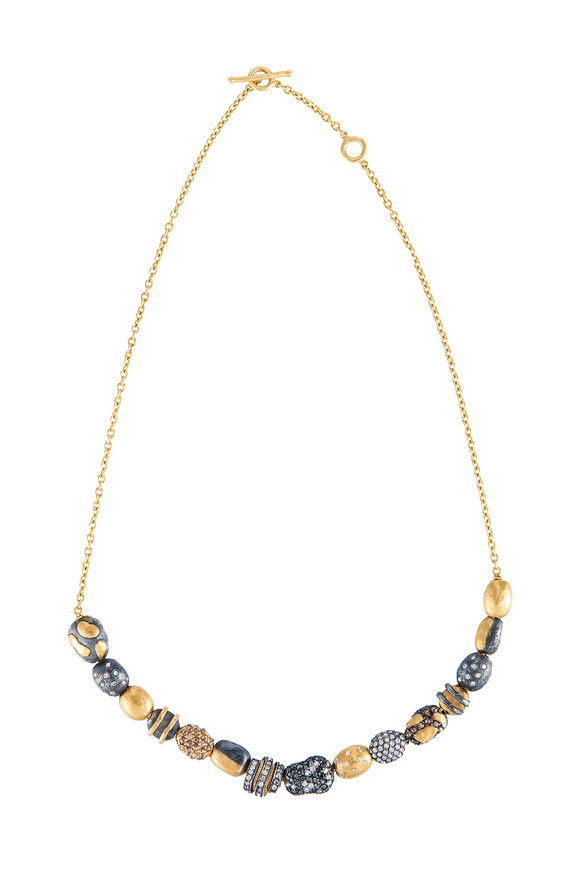 Yossi Harari 24K Yellow Gold Helen Bead Necklace