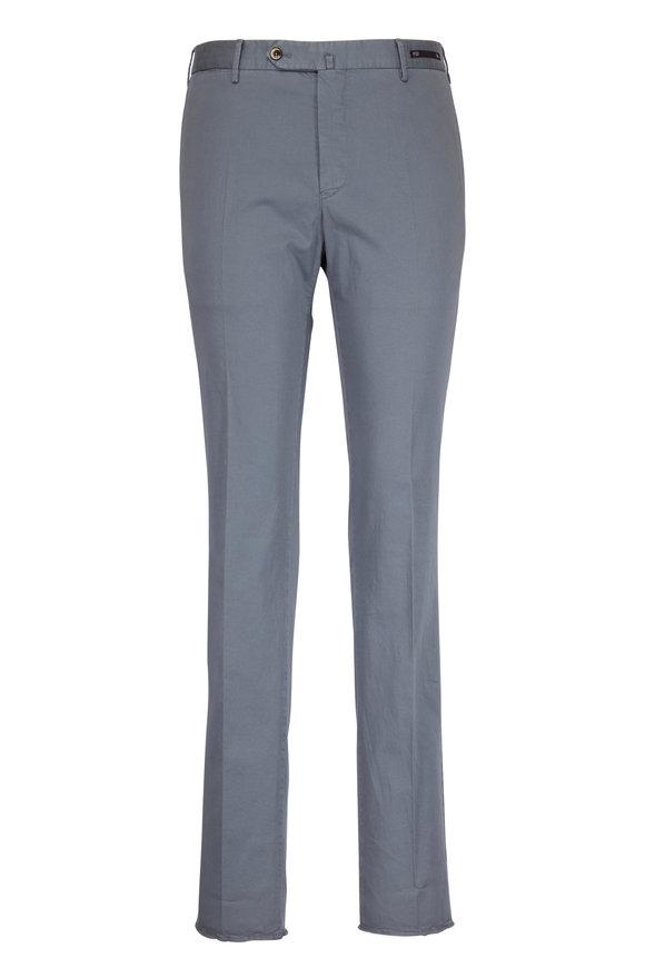 PT01 Grey Microprinted Slim Pant