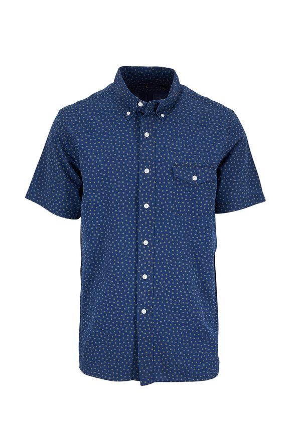 Polo Ralph Lauren Navy Blue Star Print Short Sleeve Sport Shirt