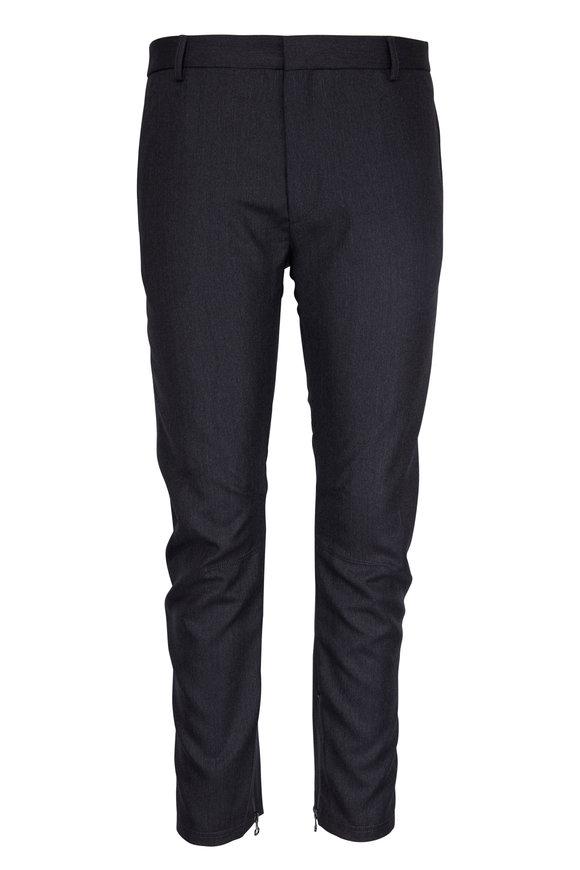 Lanvin Grey Wool Inside Ankle Zip Biker Pant