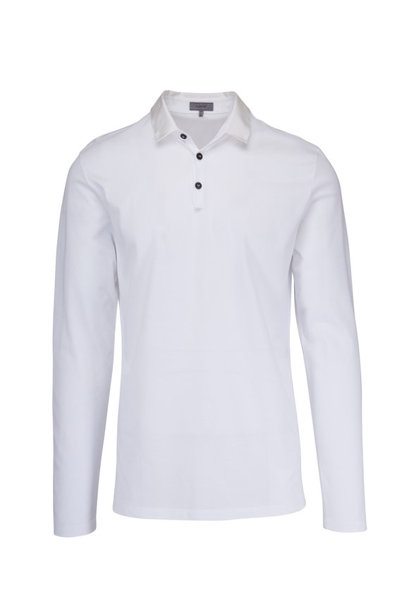 Lanvin White Long Sleeve Polo