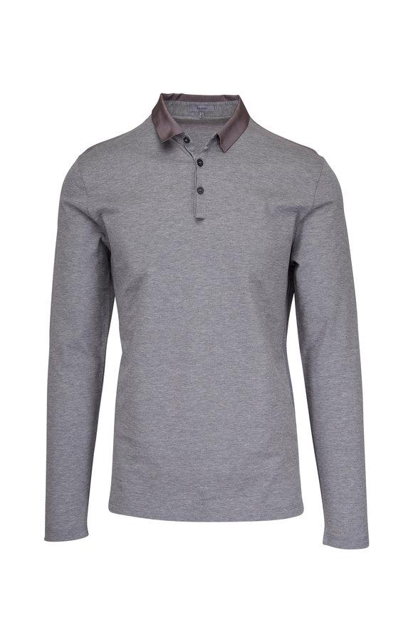 Lanvin Grey Long Sleeve Polo