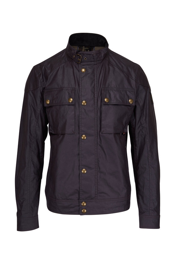 Belstaff Racemaster Deep Mauve Waxed Cotton Jacket