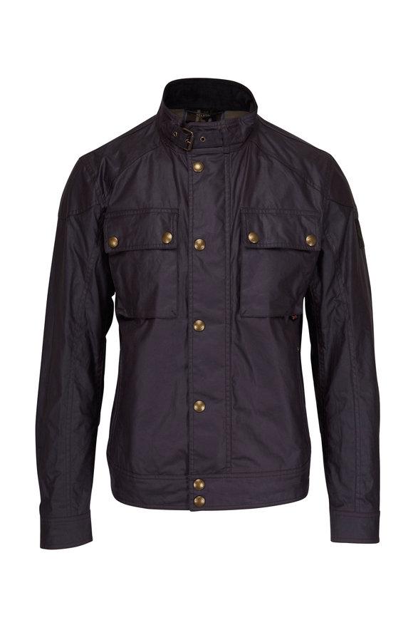 Belstaff Racemaster Deep Mauve Waxed Cotton Jacket