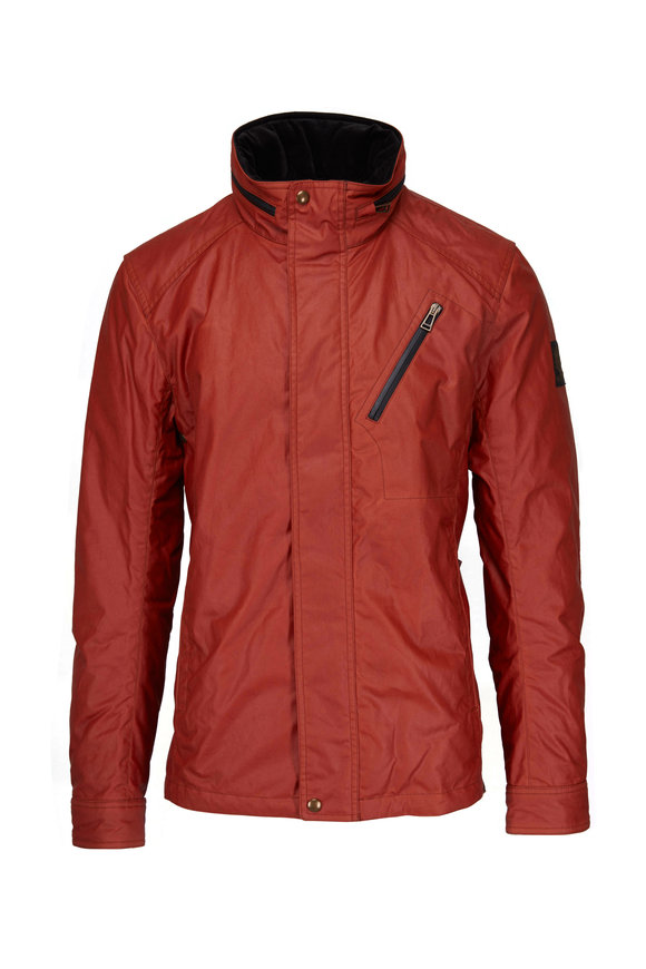 Belstaff Citymaster Bright Tamarind Waxed Cotton Jacket
