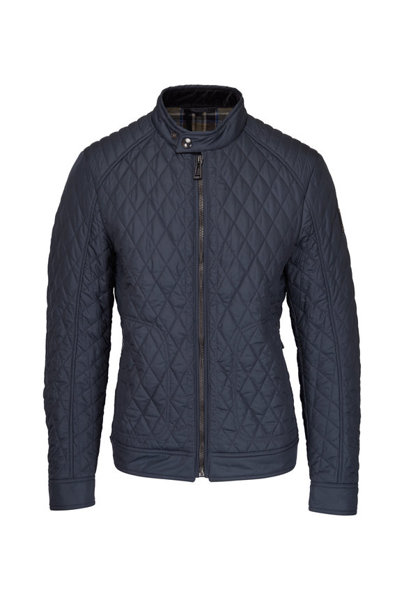 Belstaff Amerly Green Quilted Bomber
