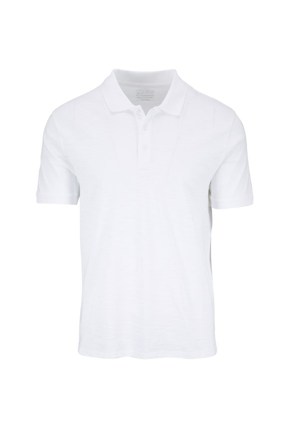 Vince Classic White Slub Polo