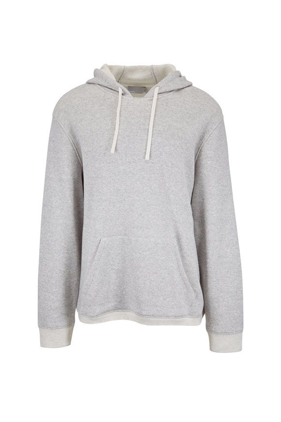 Vince Light Gray French Terry Hoodie