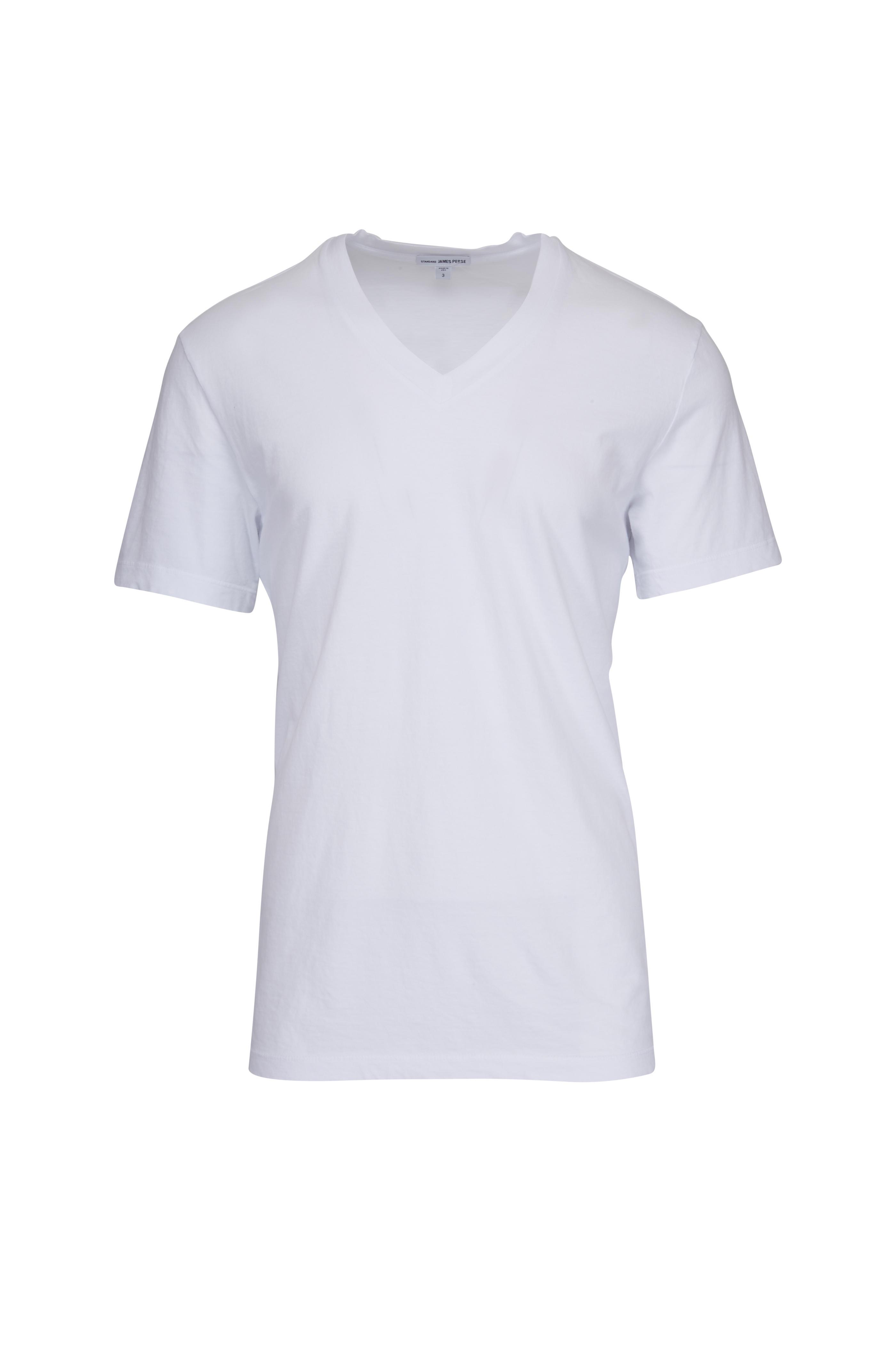 d8cbb52cc22 James Perse - White Cotton V-Neck T-Shirt   Mitchell Stores