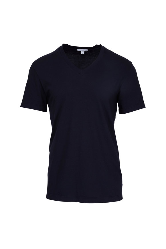 James Perse Navy V-Neck Cotton T-Shirt