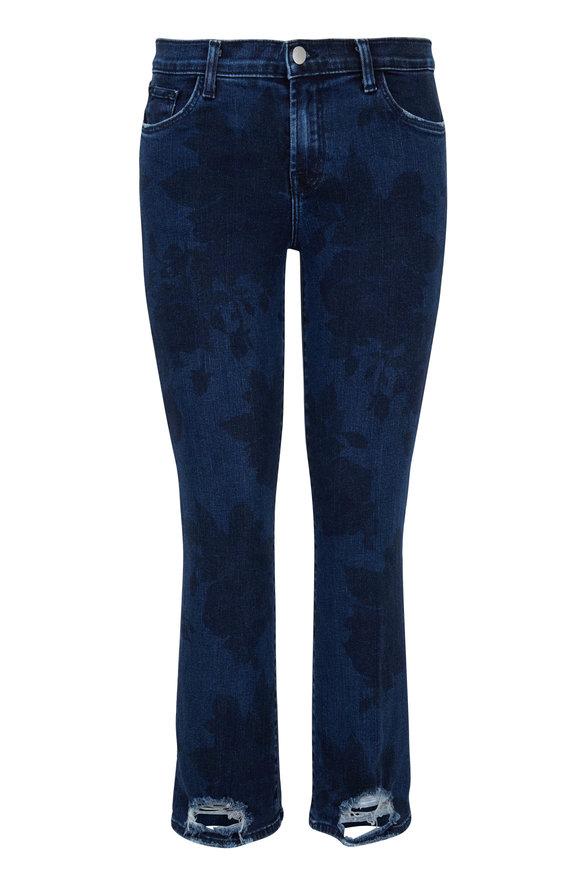J Brand Selena Illusion Floral Printed Crop Boot Jean