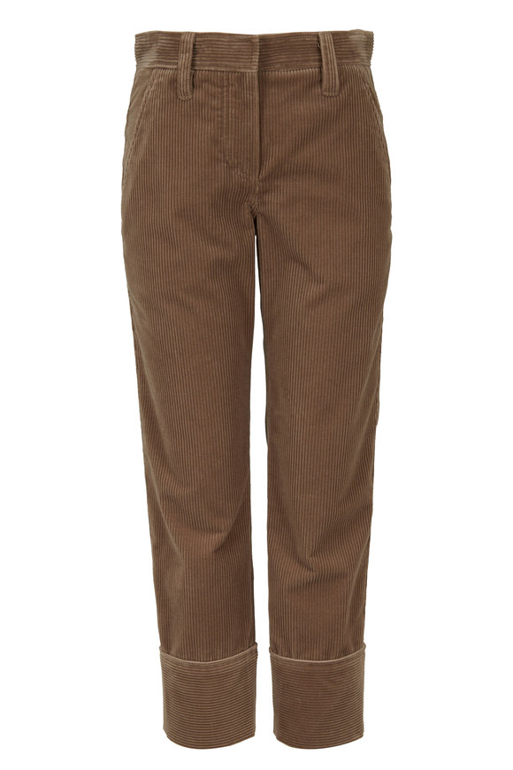 Brunello Cucinelli Exclusively Ours! Nutmeg Cotton Corduroy Pant