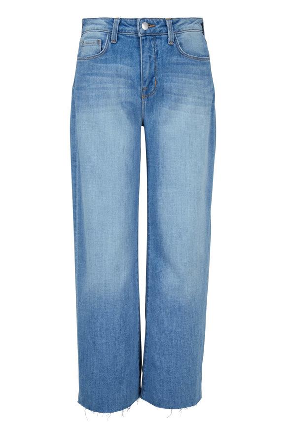 L'Agence Danica Light Wash Wide Leg Jean