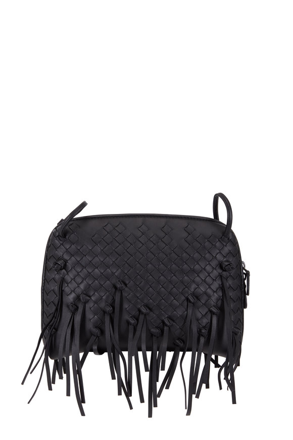 Bottega Veneta Pillow Black Intrecciato Medium Crossbody