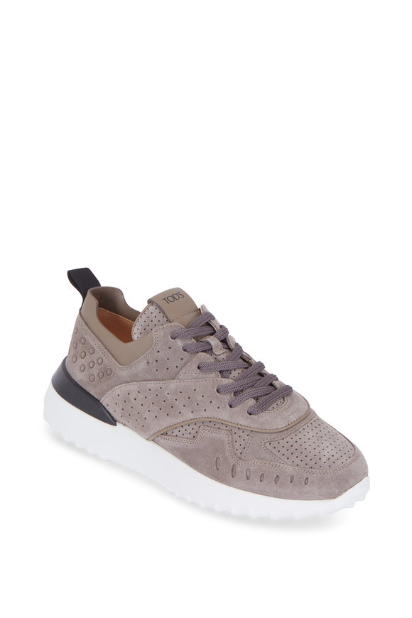 Tod's Gomma Light Gray Suede Sneaker