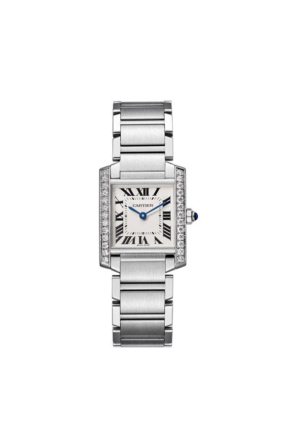 Cartier Tank Pavé Lined Watch