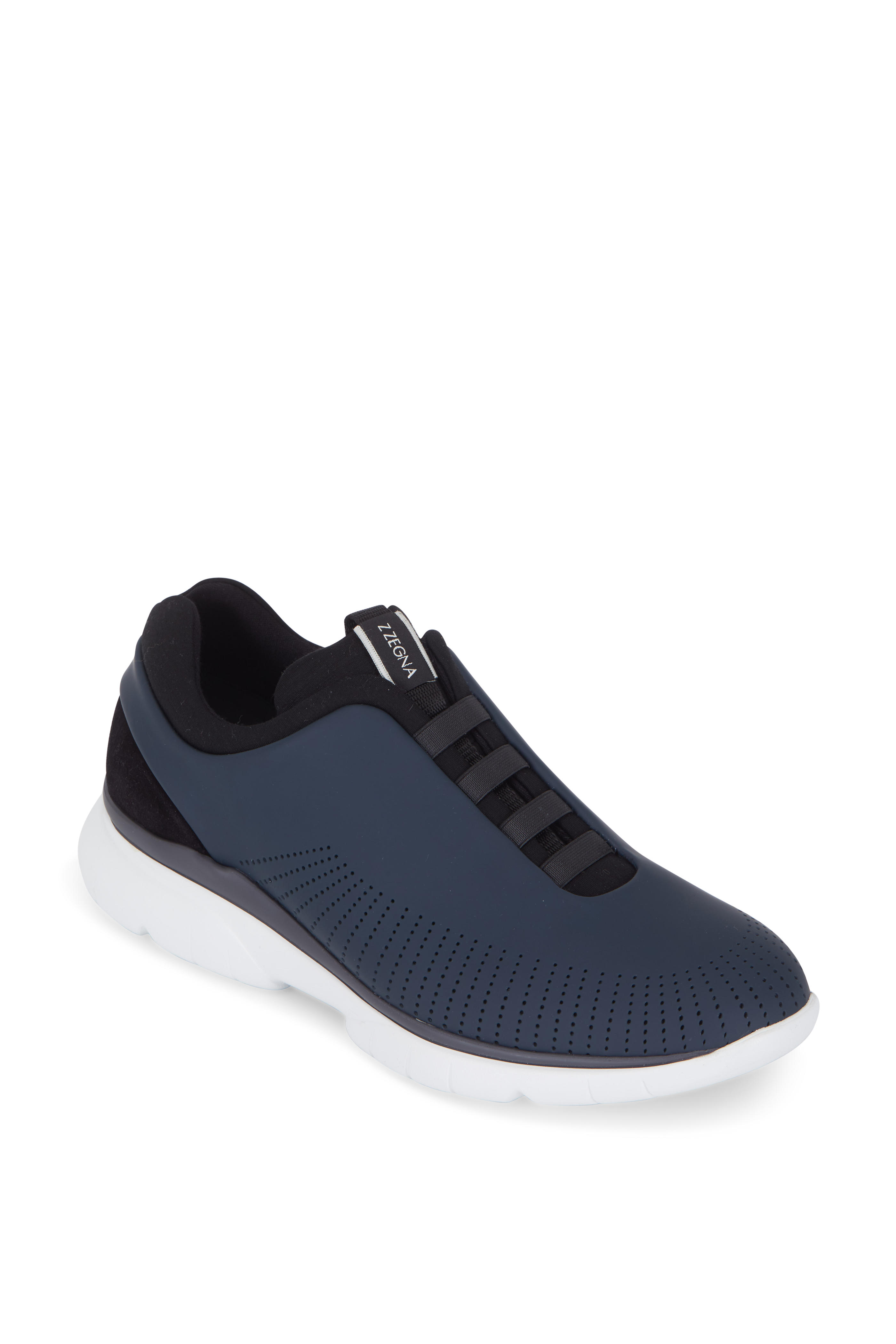 33afc92c Ermenegildo Zegna - Sprinter 2.0 Navy Blue Tech Leather Sneaker ...