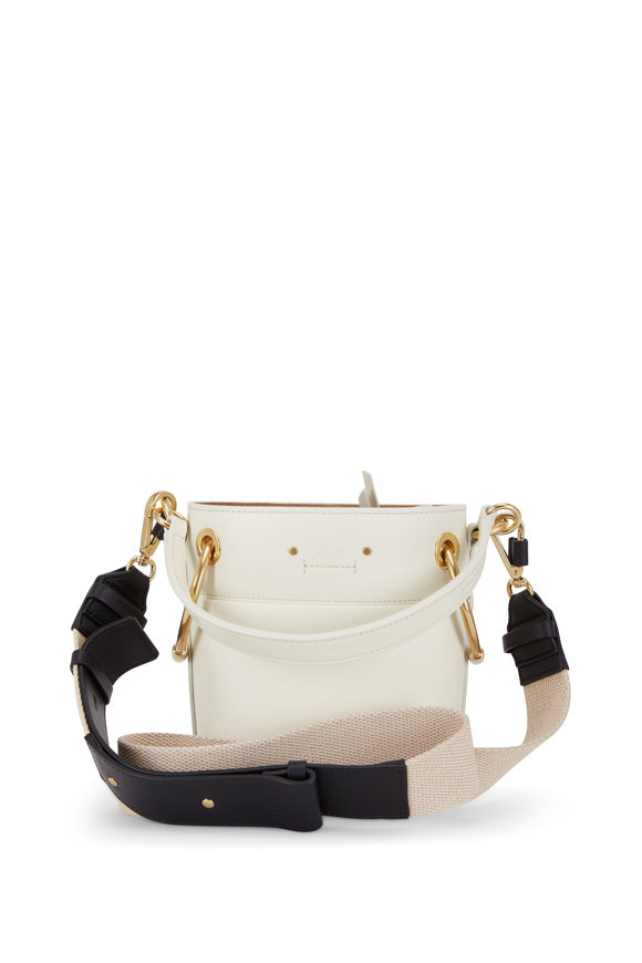 Chloé Roy Natural Leather Mini Bucket Bag