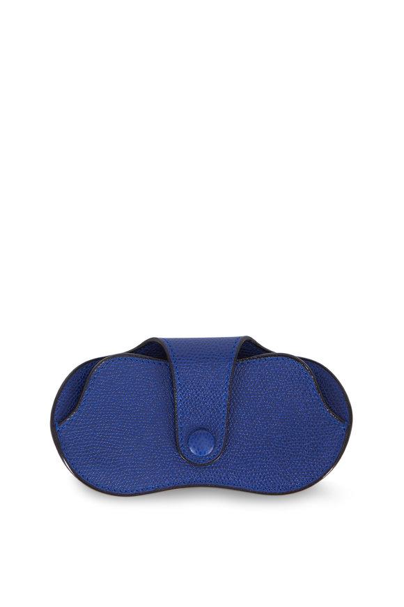 Valextra Royal Blue Saffiano Glasses Case