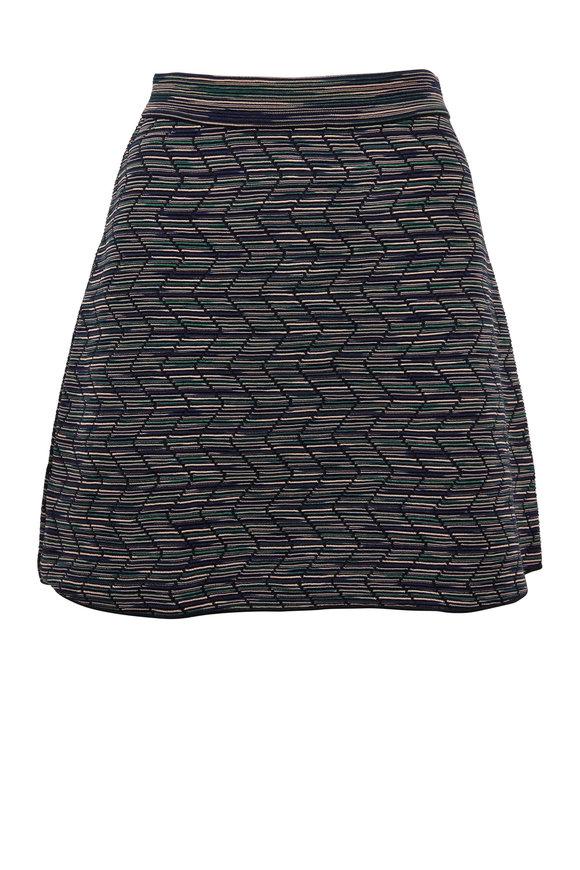 M Missoni Navy Knit Mini Skirt