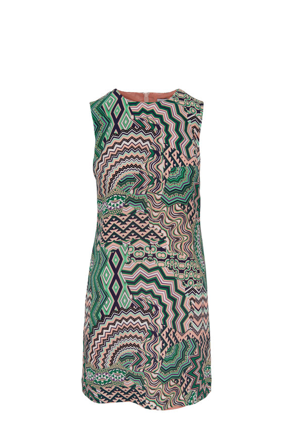 M Missoni Blush Silk Printed Day Dress