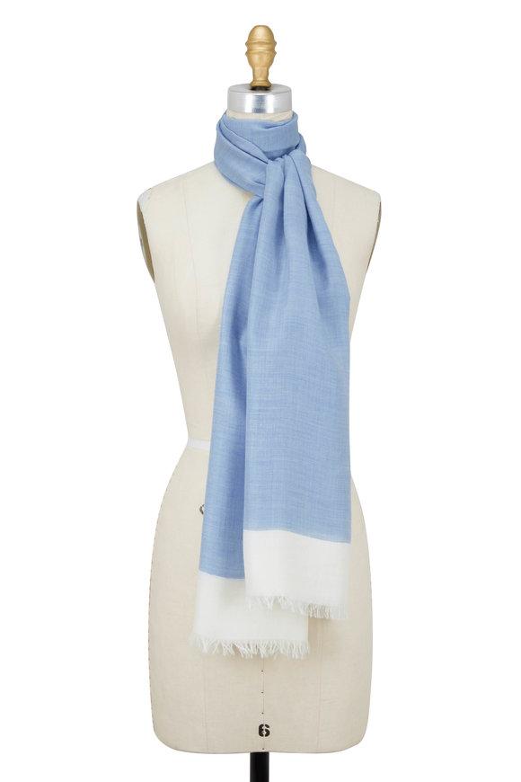 Rani Arabella Light Blue & Ivory Colorblock Scarf