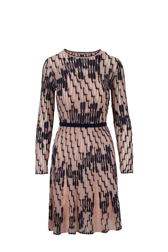 M Missoni Blush Scribble Knit Dress