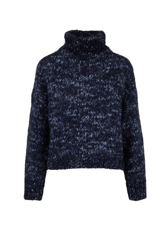 Brunello Cucinelli Exclusively Ours! Midnight Mohair Sweater