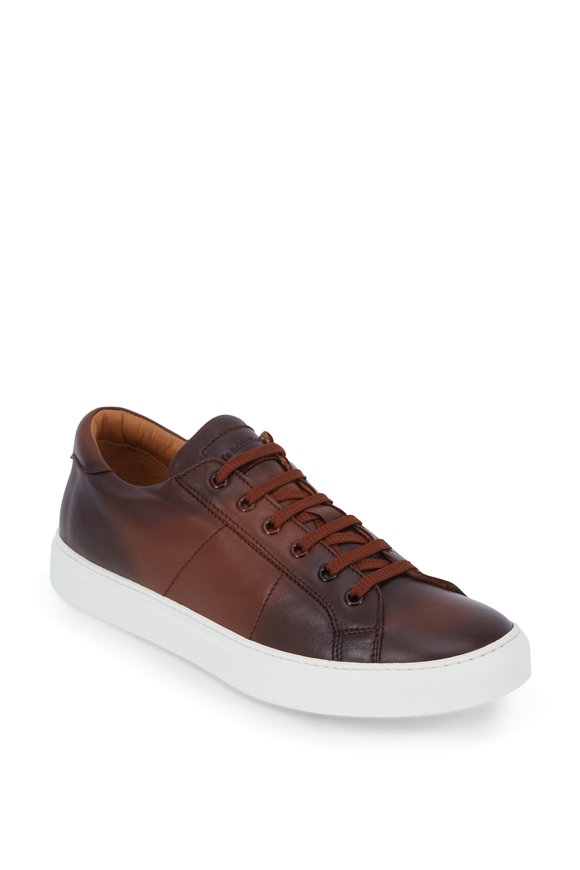 To Boot New York Colton Brandy Burnished Leather Sneaker