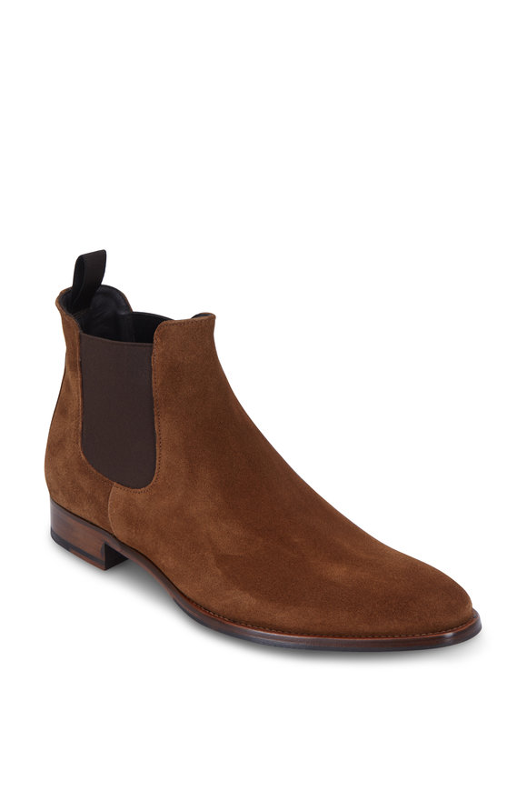 To Boot New York Shelby Medium Brown Suede Chelsea Boot