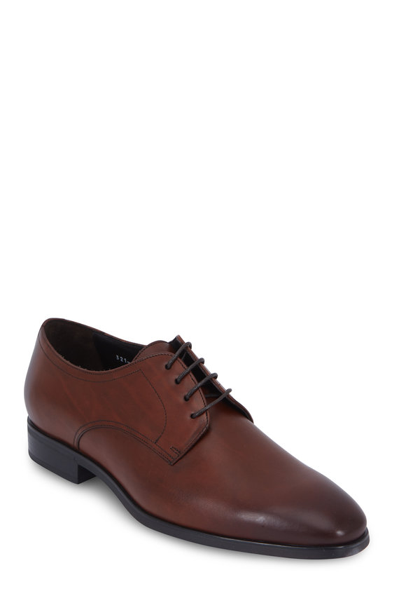 To Boot New York Dwight Cognac Burnished Leather Derby Shoe