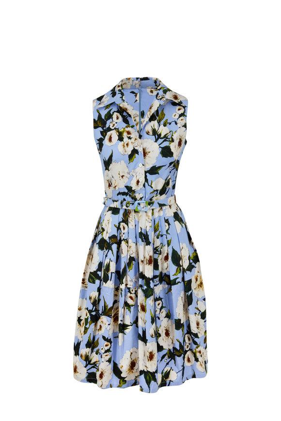 Samantha Sung Claire Chambray Sharon Rose Sleeveless Dress