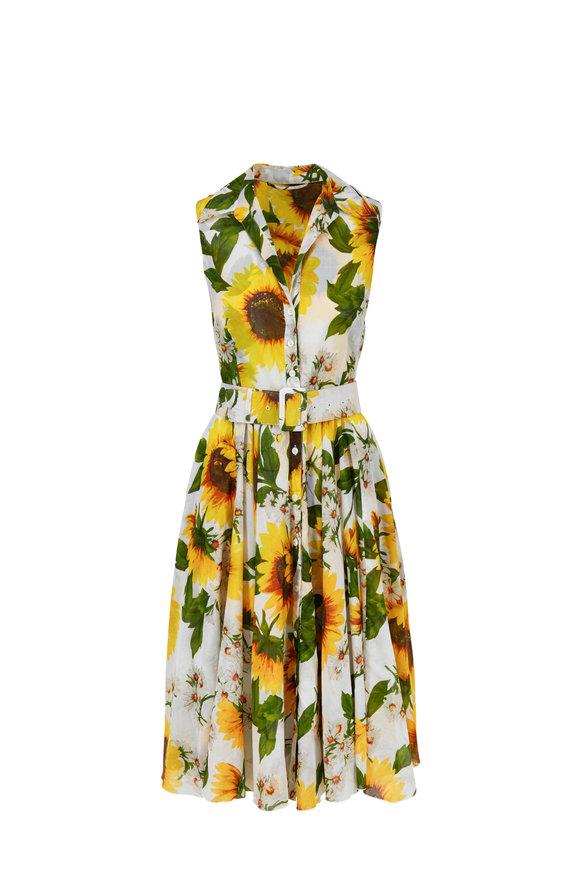 Samantha Sung Aster Cotton Voille Oceana Sunflower Dress