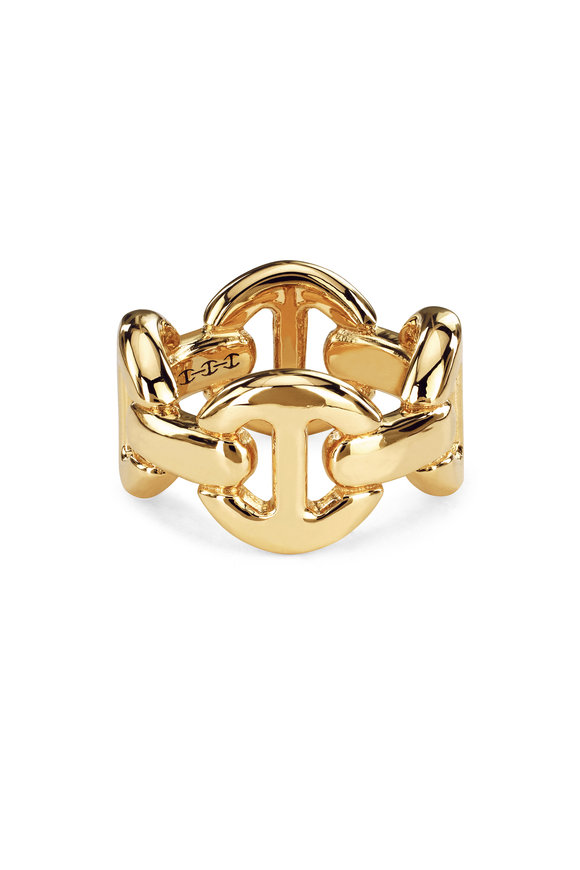 Hoorsenbuhs 18K Yellow Gold Quad Link Ring