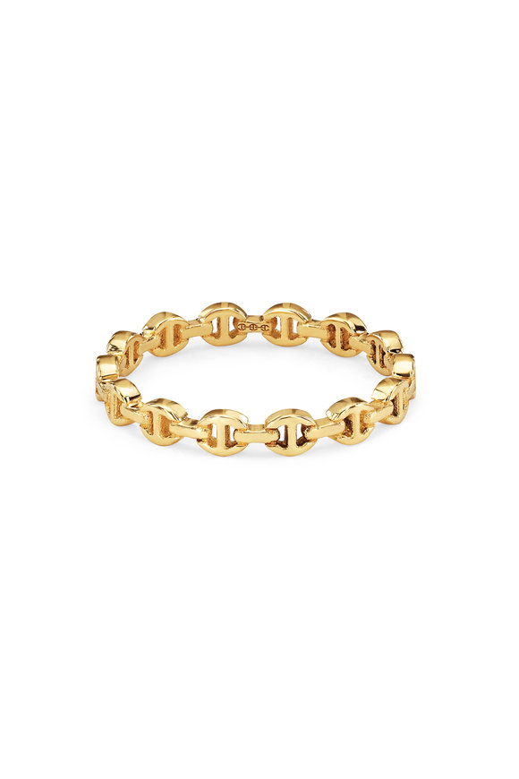 Hoorsenbuhs 18K Yellow Gold Micro Dame Ring
