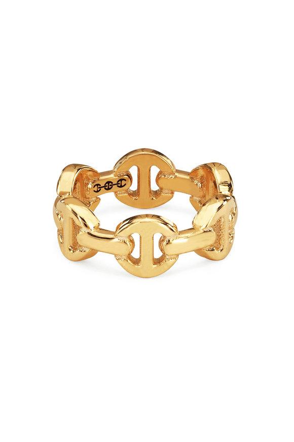 Hoorsenbuhs 18K Yellow Gold Classic Tri-Link Charm