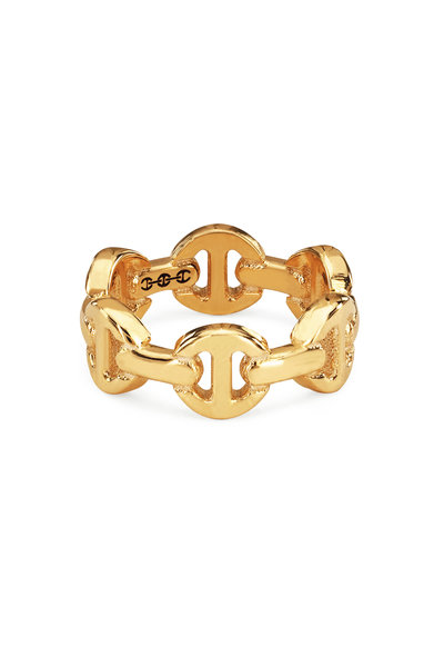 Hoorsenbuhs - 18K Yellow Gold Classic Tri-Link Charm