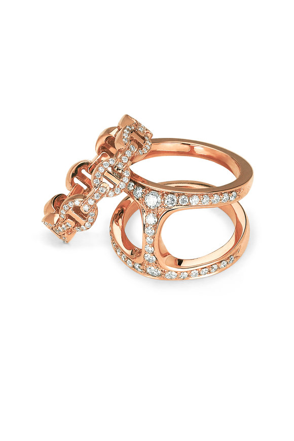 Hoorsenbuhs 18K Rose Gold Dame Phantom Clique Ring