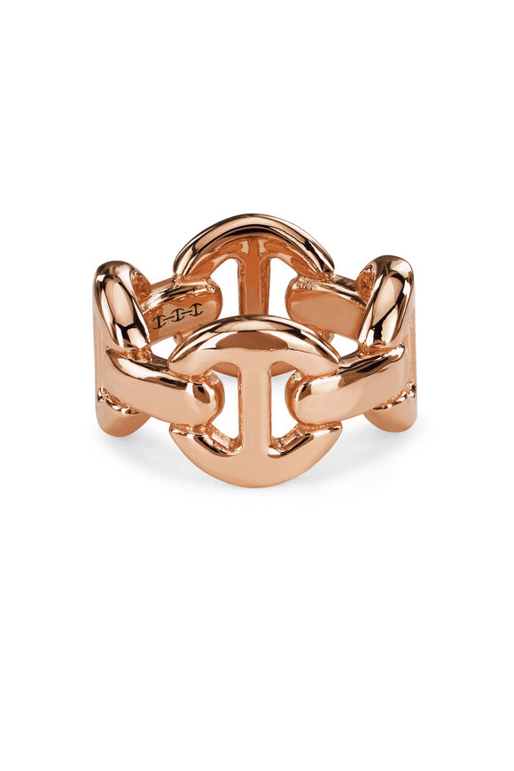 Hoorsenbuhs 18K Rose Gold Quad Link Ring