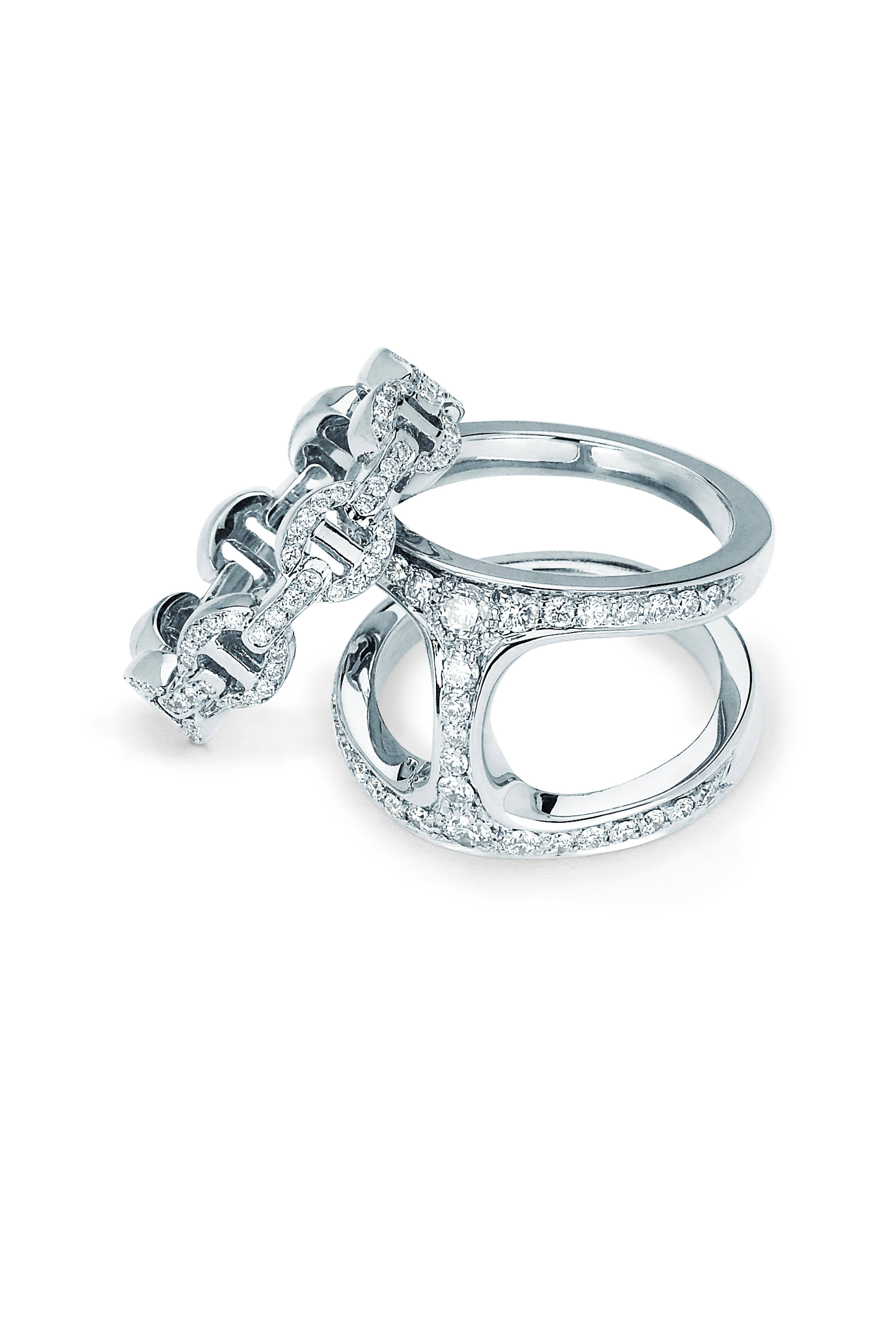 97758fa2 Hoorsenbuhs - 18K White Gold Dame Phantom Clique Ring | Mitchell Stores