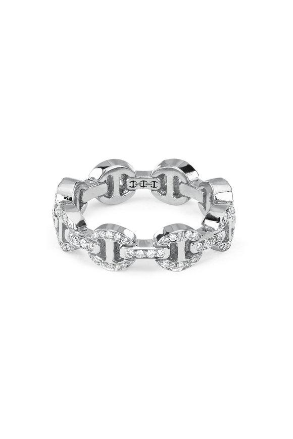 Hoorsenbuhs 18K White Gold Dame Tri-Link Ring