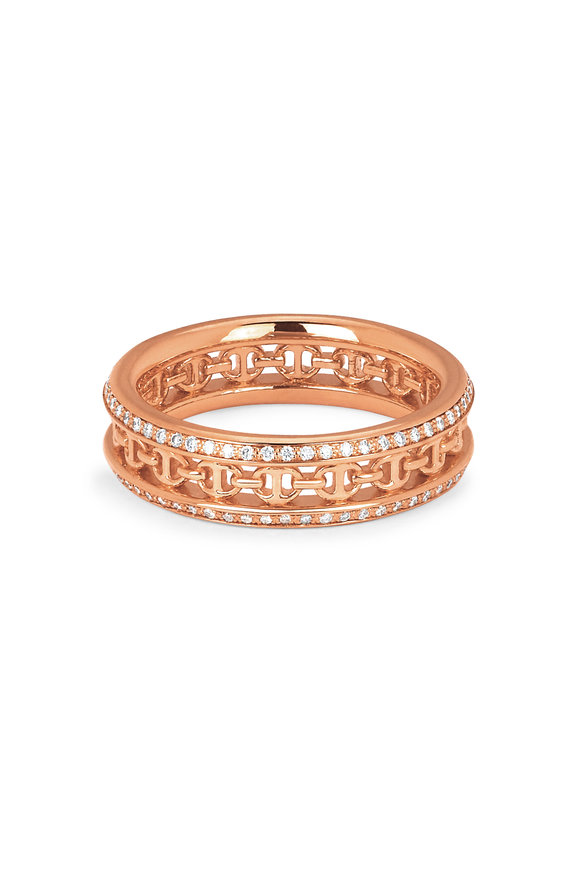 Hoorsenbuhs 18K Rose Gold Chassis Diamond Band
