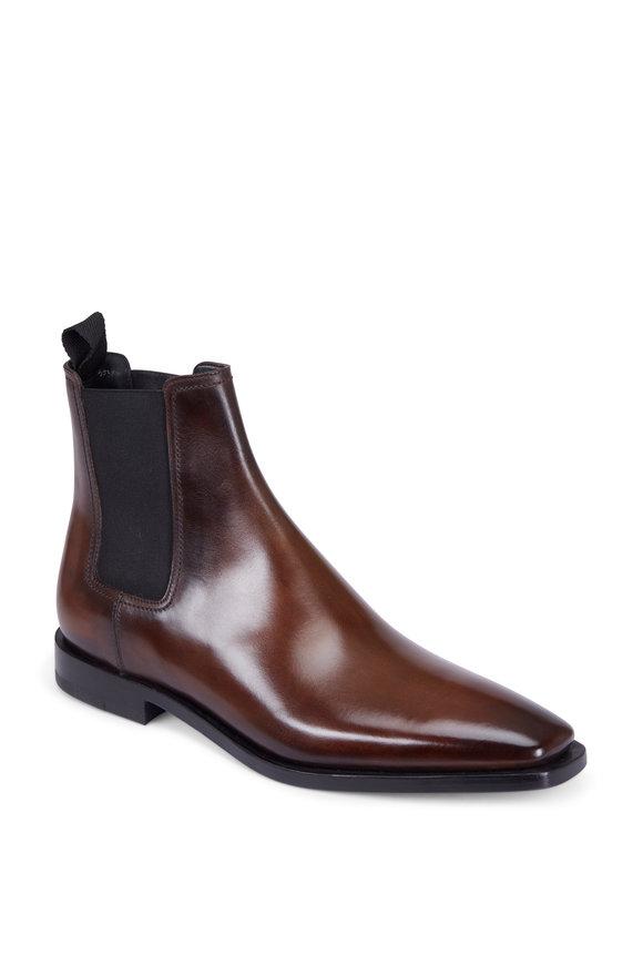 Berluti Caractère Eclair Calf Leather Chelsea Boot