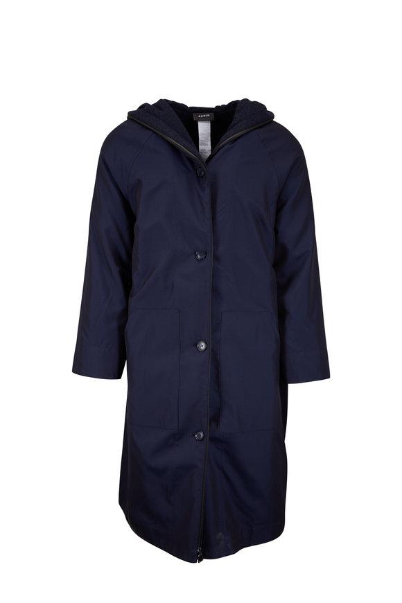 Akris Tanaya Indigo 2-in-1 Hooded Coat